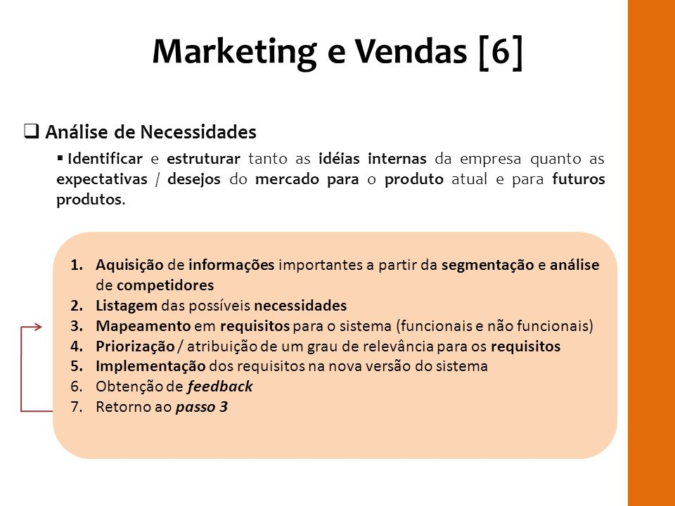 Marketing e Vendas [6] RILAY Análise de Necessidades